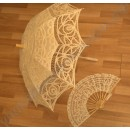 Аристократичный зонтик от солнца с веером