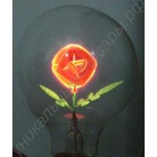 Лампа украшенная розой