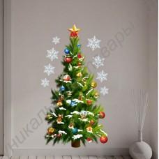 Стикер в виде рождественской ёлки