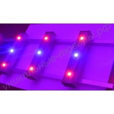 Бюджетный светодиодный красно-синий тепличный светильник «Антарес», гарантийное обслуживание - 1 год