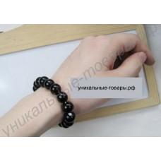 Турмалиновый браслет из черных кристаллов