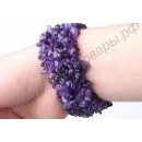 Стильный турмалиновый браслет «Кристаллы»