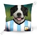 Турмалиновые подушки с принтами «Собаки - футболисты» 45 х 45 см
