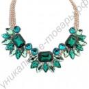 Шикарное ожерелье «Герберы» с кристаллами турмалина