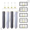 4 боковые щетки + 5 HEPA фильтров + 4 роликовые щетки для пылесосов iRobot Roomba (800 860 870 880 890 900 960 980)