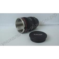 Кружка-термос в виде объектива фотоаппарата