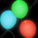 Сдутые светящиеся шары диаметром 30 см
