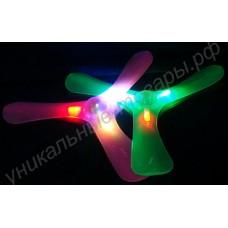 Светящийся бумеранг со светодиодами