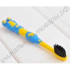 Детская зубная щётка с бамбуковым углём