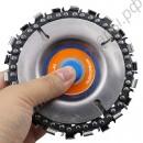 Четырехдюймовый шлифовальный диск и цепь 22 зуба